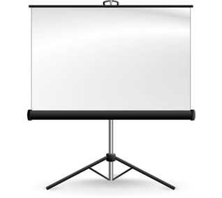 Projector Screen for Hire in Sevenoaks, Kent