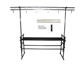 Overhead lighting dual lighting bar for hire in Kent