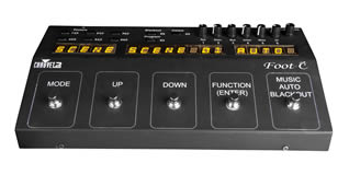 Foot Operated DMX Controller for hire in Kent