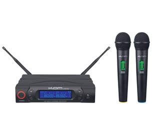 Dual Wireless Handheld Microphone Diversity System for hire
