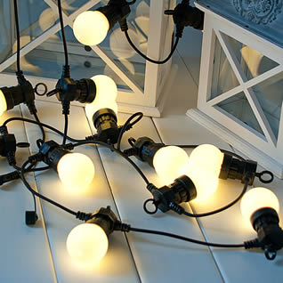Linkable Globe String Lighting for Hire