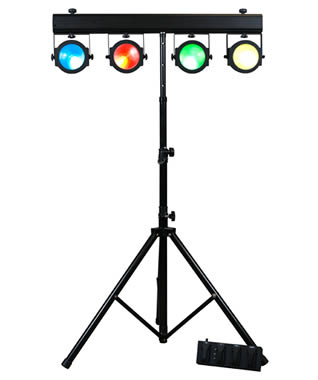 LED Wash system for mobile entertainers & bands for Hire in Kent