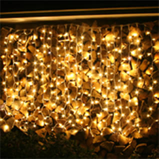 Linkable curtain lights for internal or external use for Hire