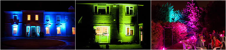 Exterior Party Lighting Hire in Sevenoaks, Kent