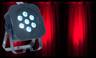 LED Lighting for Hire - Higher powered Tri-LED wash Fixture