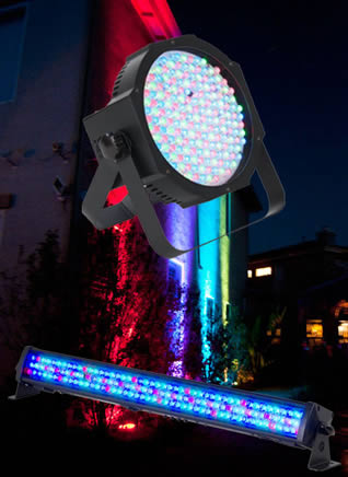 LED Lighting for Hire - Battery-powered Wash bar or par