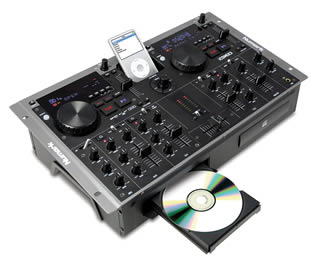 Combined iPod and CD Player & Mixer for Hire in Kent